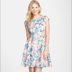 Betsy Johnson Laser-Cut Floral Dress